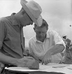 Diehl as a student in Mexico, summer, 1961. His professor and life-long mentor and friend William T. Sanders is trying to teach him how to make a map. That is when he realized it would always be better to let his students do the mapping.